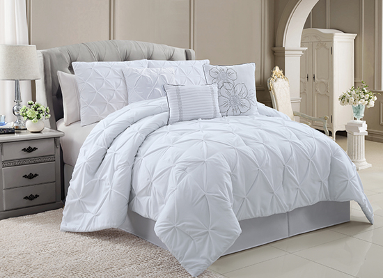 Chic emma luxury comforter sets for White full bedroom set