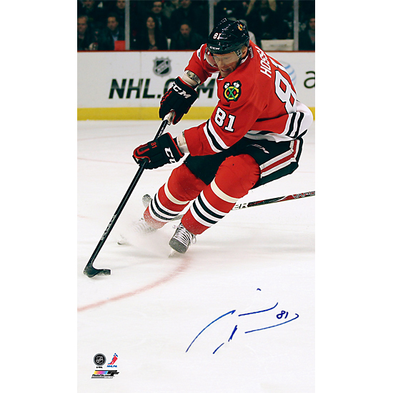 marian hossa autographed poster