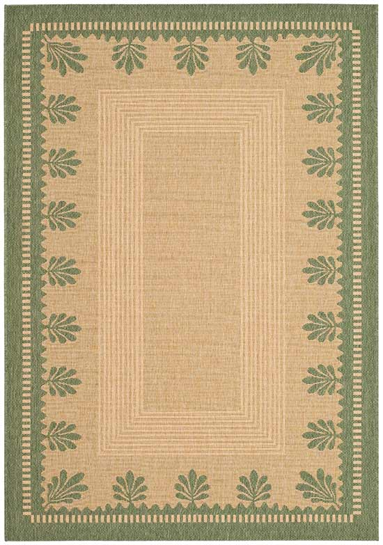 palm border rug in sandgreen - Martha Stewart Rugs
