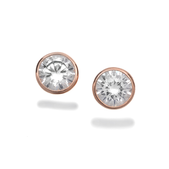 diamond orly round white diamonds cut earrings bezel weight prong bezels brilliant gold classic total stud set