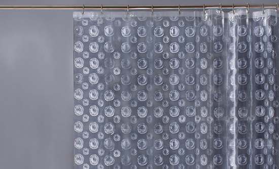 Helios Clear Lenticular PEVA Vinyl Shower Curtain