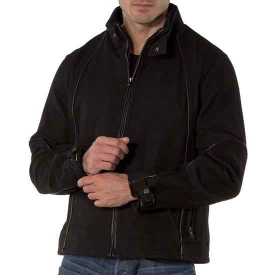 INC International Concepts Mens Snap-Collar Bomber Jacket Deep Black, Medium