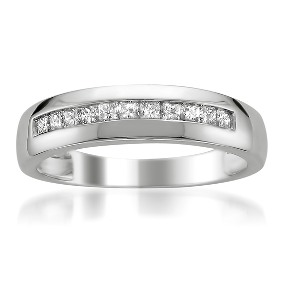65999 For A Mens 14 Karat White Gold 1 2 Carat TDW Diamond Wedding Band Z11 V0237W 134999 List Price