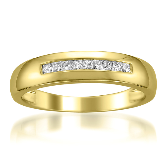 44099 For A Mens 14 Karat Yellow Gold 1 4 Carat TDW Diamond Wedding Band Z11 V0236Y 97499 List Price