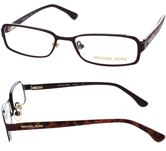 brown metal frames with tortoise plastic temples 50 17 135 mk496210 143 list price - Michael Kors Frames