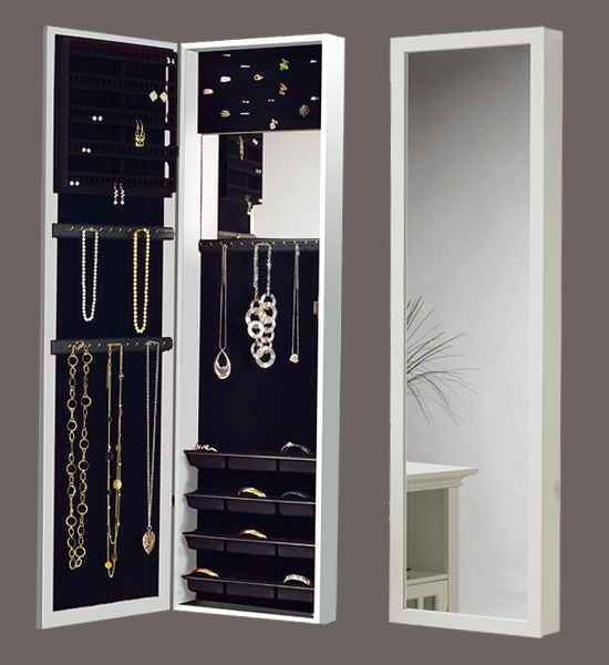 Superieur Over The Door Mirrored Jewelry Armoire