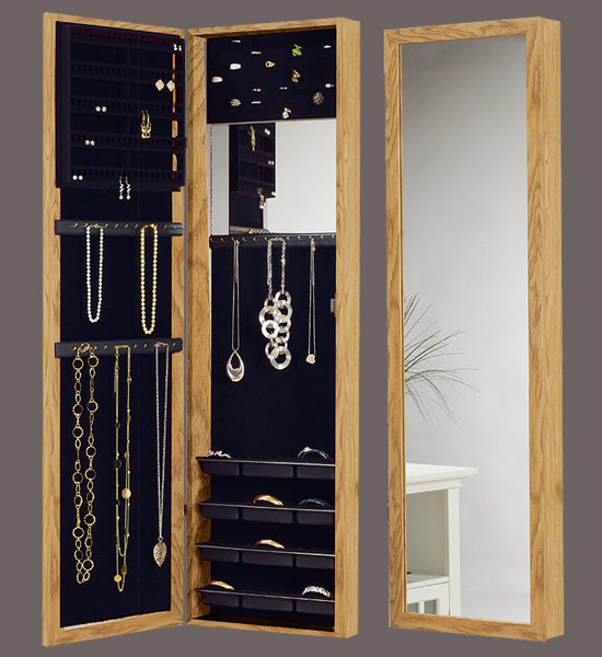 Over The Door Jewelry Armoire Mirror