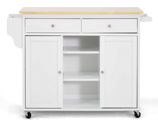 meryland kitchen cart white