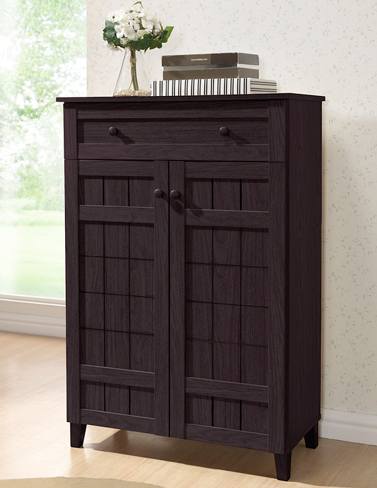 Dark brown mdf shoe cabinet with drawer fp 1203 339 99 list price
