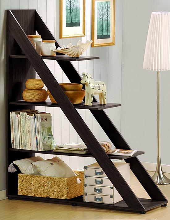 $129.99 for Marietta Dark Brown Triangle Display Shelf (IS-2) ($387 List  Price) - Modern Home Storage Solutions