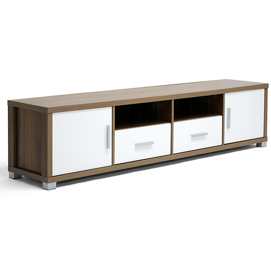Great $149 For A Chisholm Walnut Effect Modern TV Cabinet With White Doors  (Carmen 3302252) ($279 List Price)