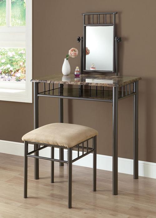 modern metal vanity tables