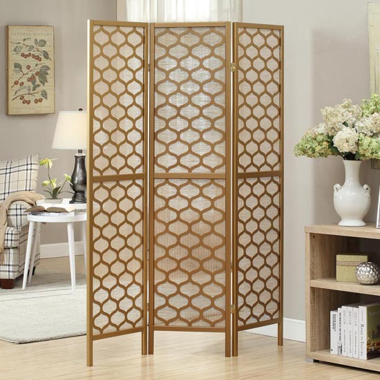 Monarch three panel folding room dividers - Decorative partitions room divider ...