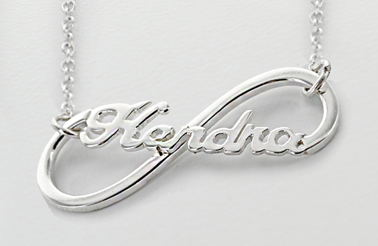 Infinity necklace with name