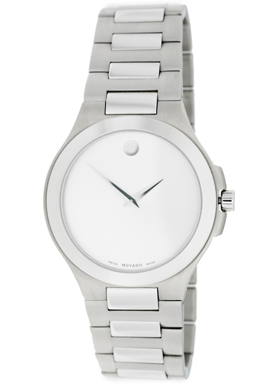 movado men s and women s watches 440 for movado men s watch collection stainless steel band silver dial 0606165 895 list price