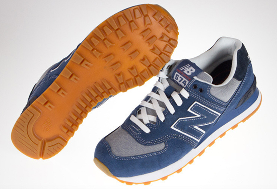 new balance classic 574 blue mens trainers