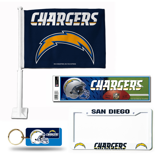 San Diego Chargers Car Accessories: NFL Car Tailgate Accessories