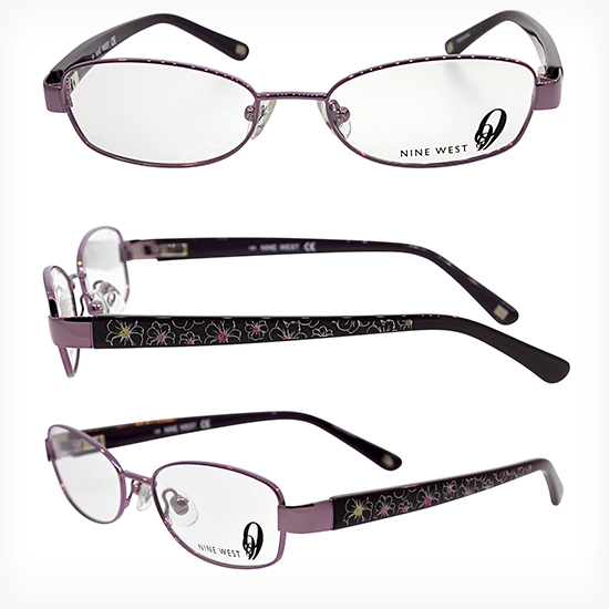 nine west womens optical frame violet nw152 0jnb 4816