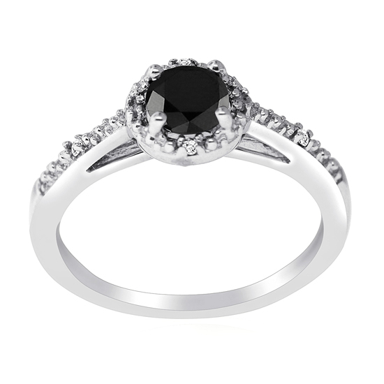black and white fashion rings