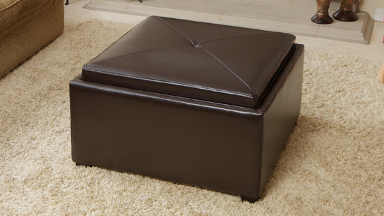 - Bonded Leather Storage Ottomans