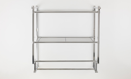 Great Two Tier Wall Mounting Rack With Towel Bars In Chrome