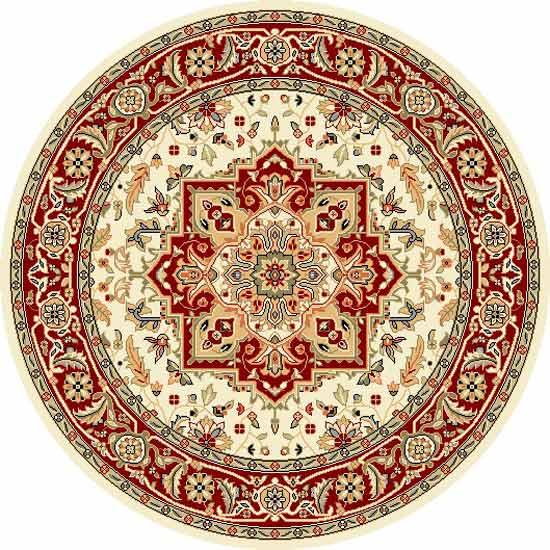 Safavieh 5u00273u0027u0027 X 5u00273u0027u0027 Round Persian Rug: Crimson Medallion