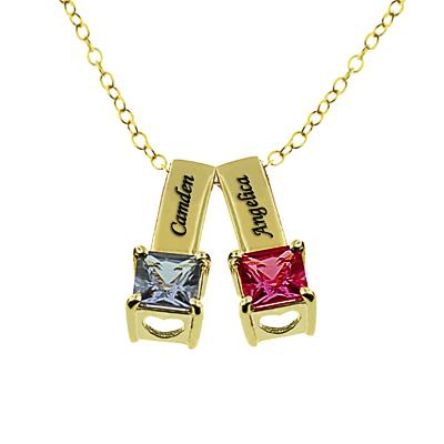 MonogramOnline Birthstone Necklaces