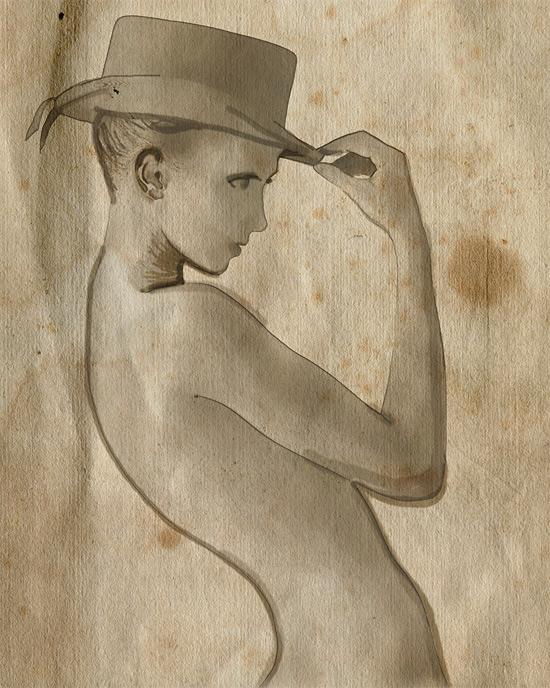 Cowboy Hat Sketch Cowboy Hat