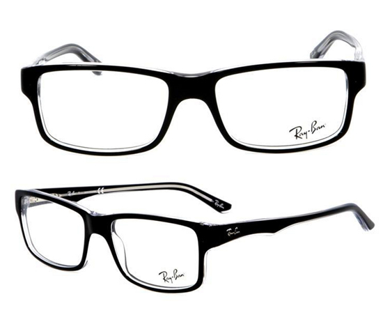 black frames and clear inside detailing 5245542034