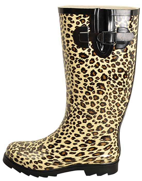 Leopard Rain Boots For Women - Yu Boots