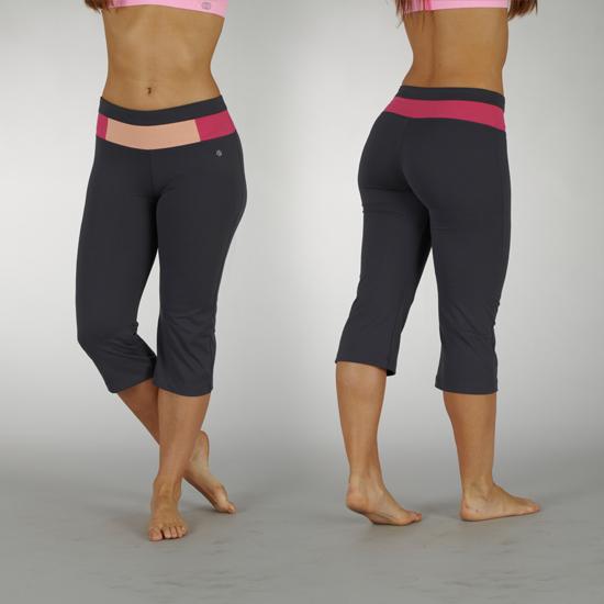 Bally Fitness Tummy-Control Sanded Dry-Wik Capri Leggings