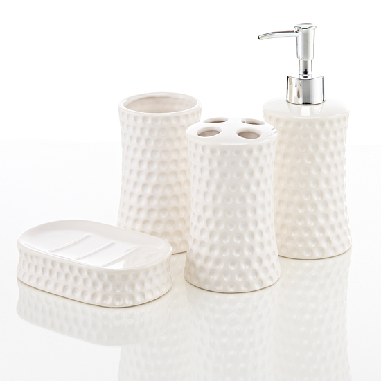 Royal club ceramic bath accessories set for White bath accessories sets
