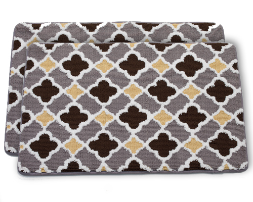 brown and grey bathroom rug memory foam bathmats