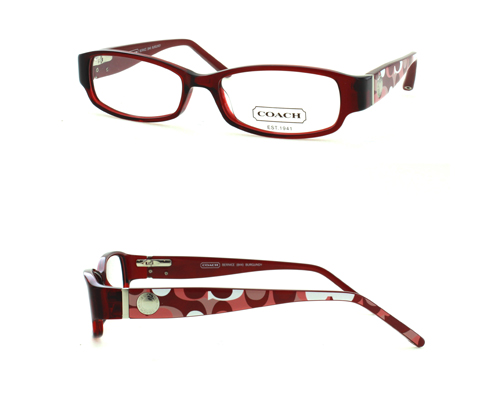 Coach Eyeglass Frames Burgundy : Coach Optical Eyeglass Frames