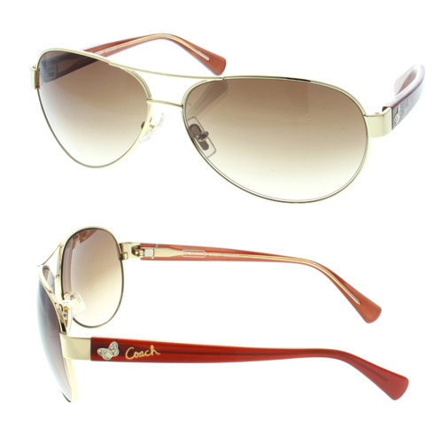 aviation sunglasses x0x3  Gold metal aviator with red temples and crystal butterfly details