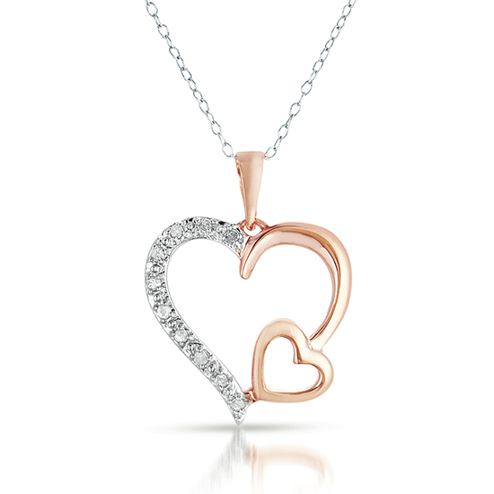 Diamond Charm Sterling Silver Necklace