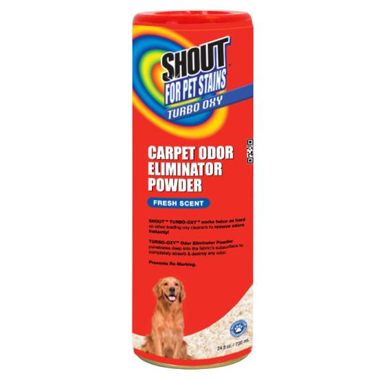 carpet odor eliminator. $7.99 for shout pets turbo oxy carpet odor eliminator powder (24 oz.) ($9.99 list price)