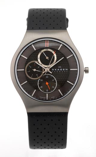 skagen watches 73 for skagen men s watch black leather band gray dial fixed titanium bezel 806xltlm 175 list price