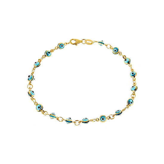 Sterling silver evil eye bracelets 1299 for 18 kt gold plated sterling silver light blue evil eye bracelet 14999 list price mozeypictures Images
