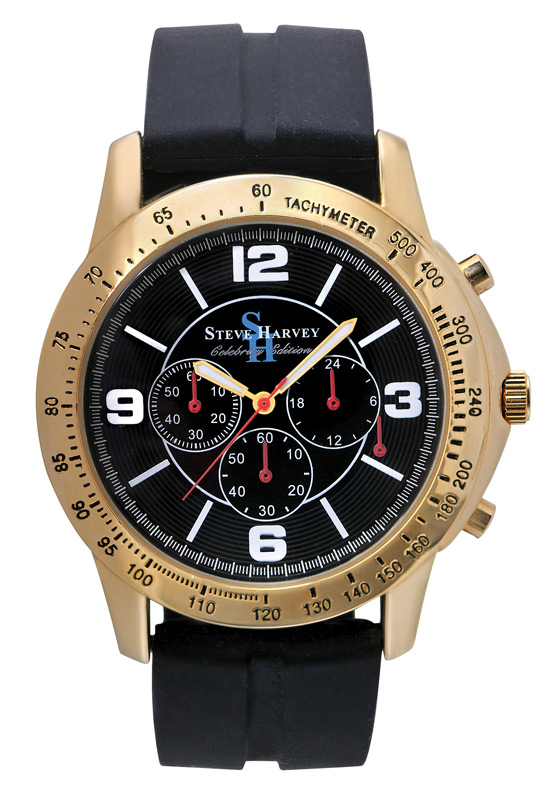 Steve harvey men 39 s celebrity watch for Celebrity watch brand male