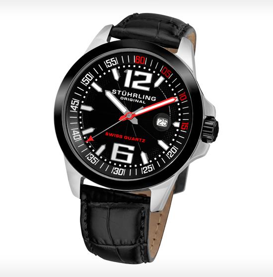 stuhrling original men s watches 54 99 for stuhrling original men s classic leather strap watch black gp12232 375 list price