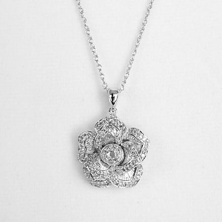 Diamond jewelry 12 carat diamond flower pendant 100 925 sterling silver aloadofball Choice Image