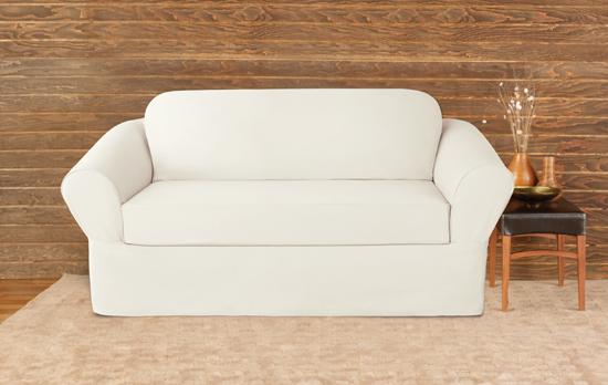 Surefit furniture slipcovers White loveseat slipcovers