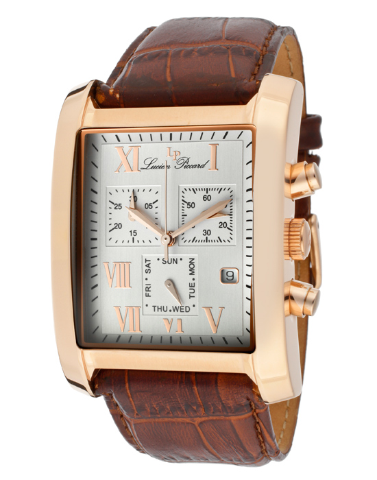 lucien piccard classico men s watches 79 99 for lucien piccard men s classico brown band silver white border dial rose gold tone hands lp 98041 rg 02s 695 list price