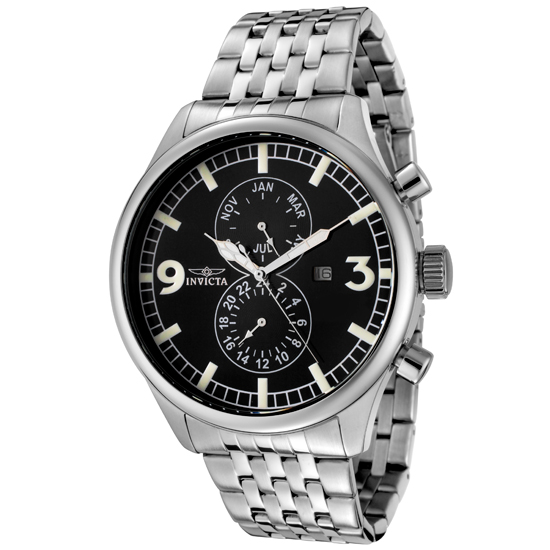 up to 92% off men s invicta watch groupon goods men s invicta ii black carbon dial stainless steel