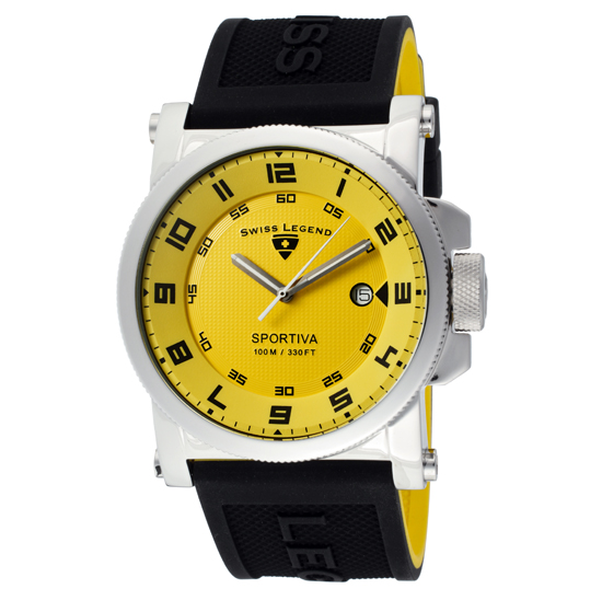 Swiss Legend Tri Mix Yellow : Swiss legend men s sportiva watch