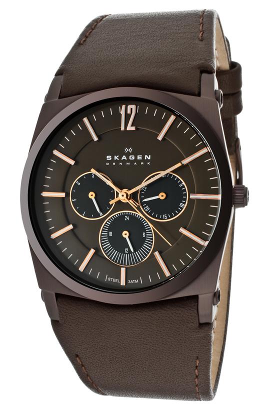 skagen men s watches 69 99 for skagen men s watch brown leather band brown face skagen 759ldrd 175 list price