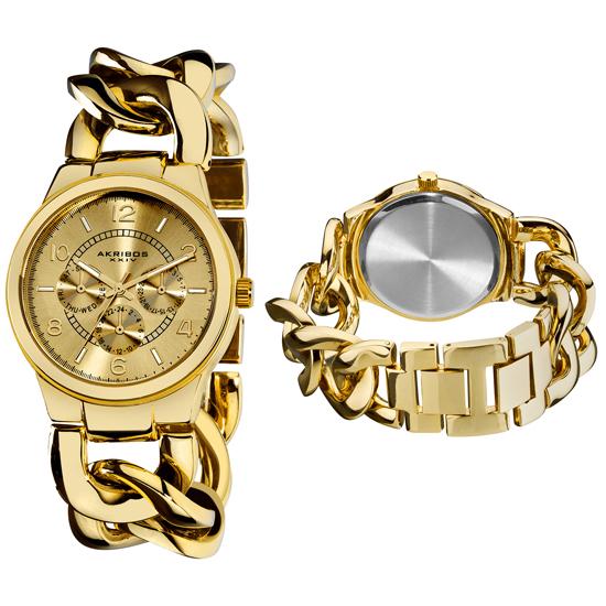 akribos s twist chain watches