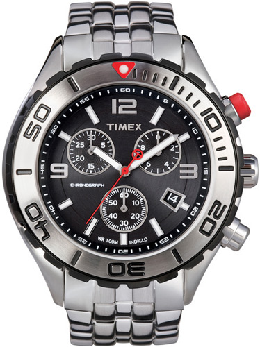 timex watches 49 99 for timex men s sport analog watch black dial chronograph stainless steel silver band unidirectional bezel t2m759 175 list price