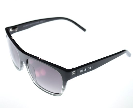 eyeglasses shades xn6y  Tommy Hilfiger Unisex Sunglasses: Black-Gray Straited Plastic Frame/Gray  Gradient Lens 56-17-130 1085/S $135 List Price